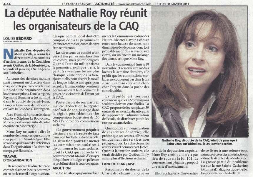 Canada Francais 31 janvier 2013