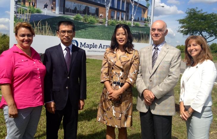 Photo inauguration Maple Armor Canada (19 août 2014)