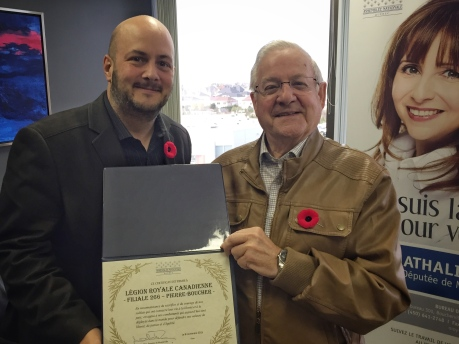 Alexandre certificat legion royale (nov 2015)